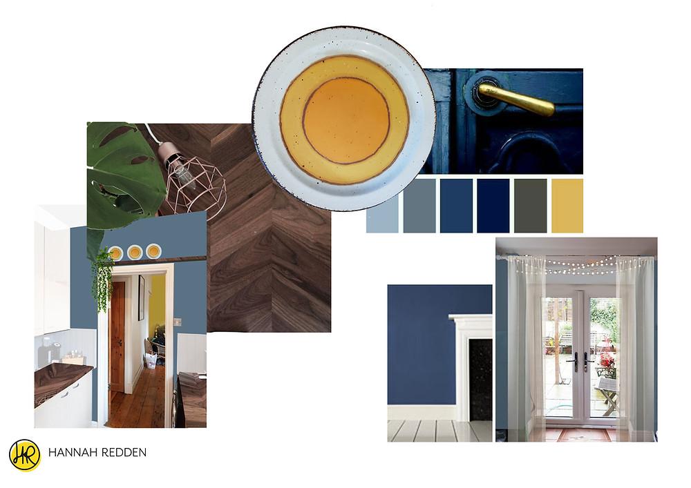 Colour Palette Concept Board - Hannah Redden, Bristol Interior Designer
