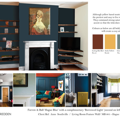 Concept Board for a classic living room