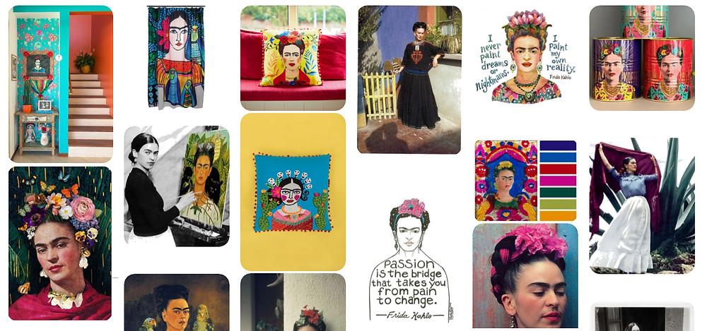 Narrowing down Frida Colour Palette - Hannah Redden Interior Design Consultancy