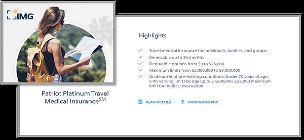 Patriot Platinum Travel Medical Insuranc