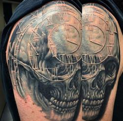 Clock Skull