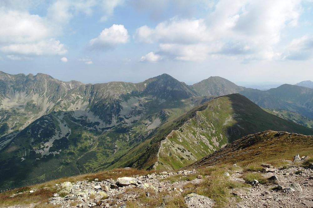 Pohľad z Baranca na Západné Tatry