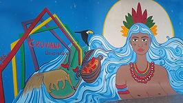 Coletivo de arte retoma atividades com pintura de mural em homenagem à cultura indígena de Roraima