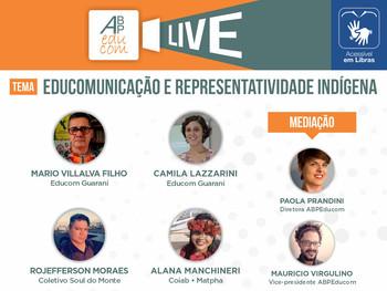 Live da RNCD e ABPEducom aborda Educomunicação e representatividade indígena