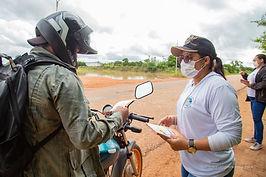 Moradores do bairro Pedra Pintada recebem ações de prevenção e combate ao Aedes Aegypti