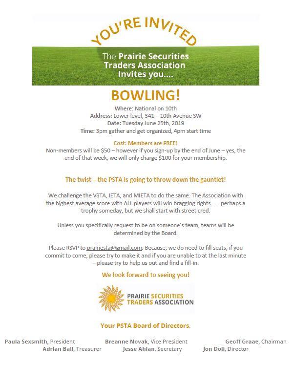 Summer Invitation - Bowling @ National