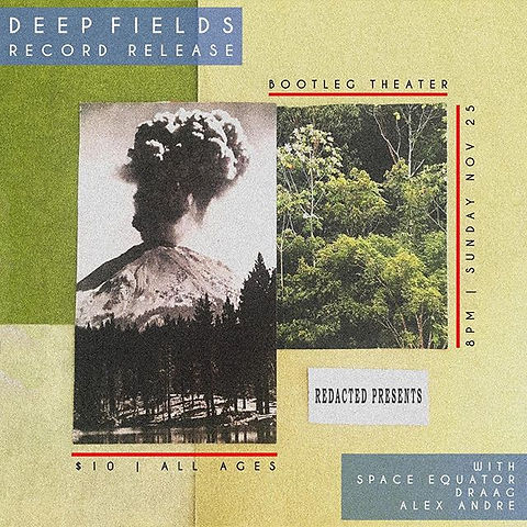 Flyer made for Deep Fields Record Releas
