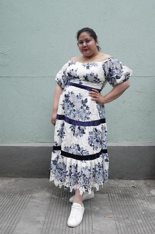 Crochet Lace Open Shoulder Dress