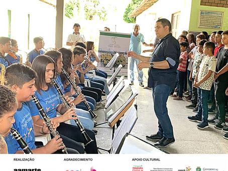 Orquestra realiza concertos nas escolas de Pindoretama
