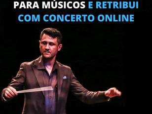 Orquestra faz campanha para músicos e retribui com concerto online
