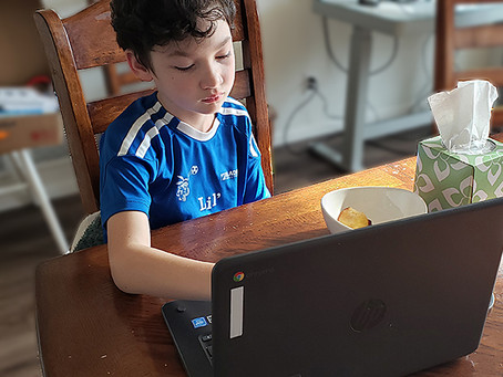 Overheard on third grade virtual school