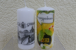 свеча с логотипом