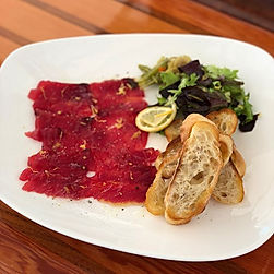Fresh Yellow Fin Tuna Carpaccio, can't g