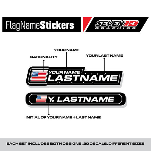 Flag  Name Stickers