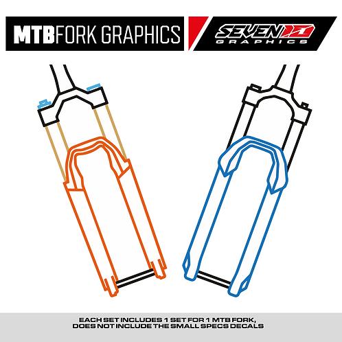 MTB Fork Decals