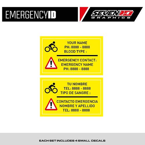 Emergency ID Tag Stickers