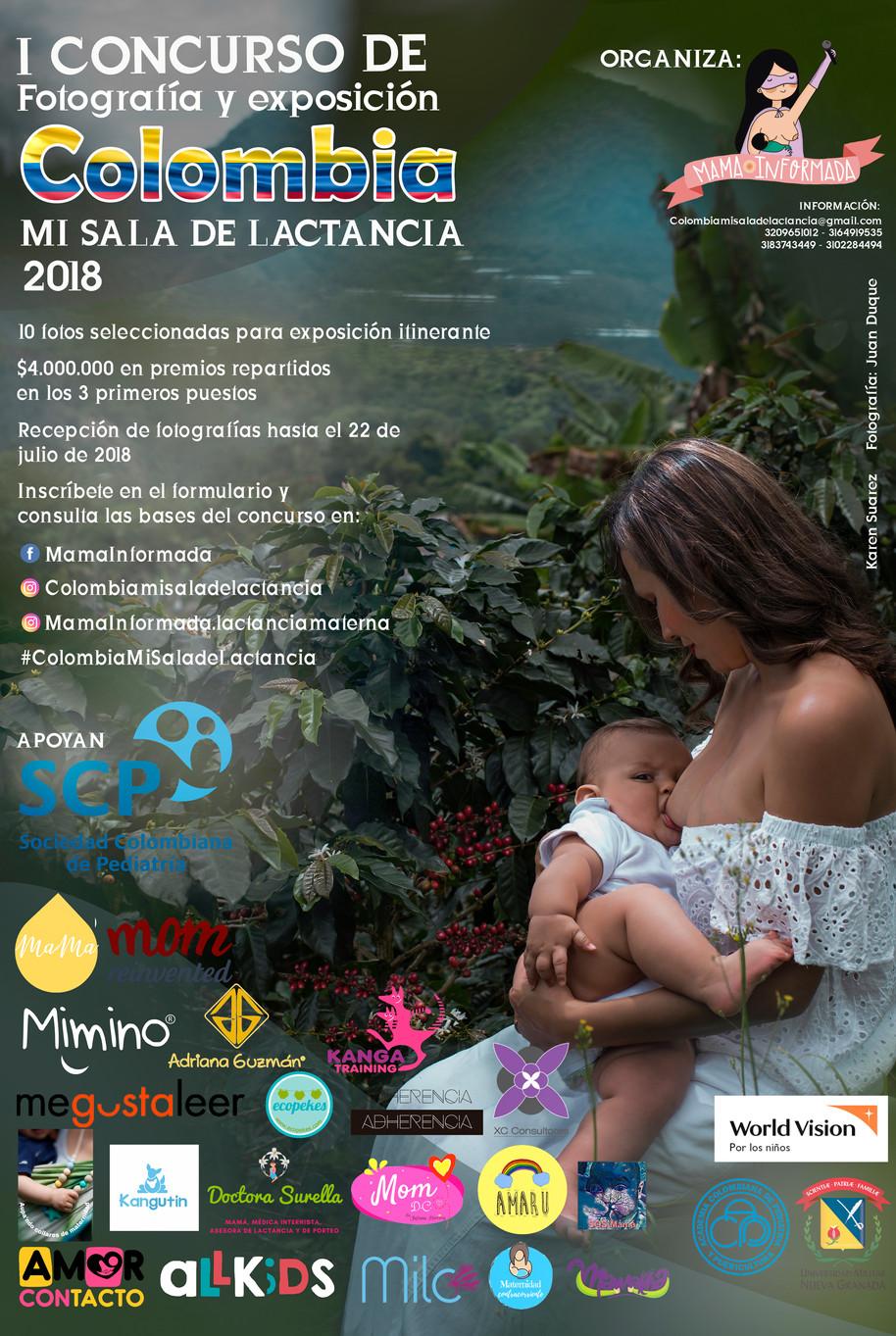 Participa en el Primer Concurso de Fotografía y Exposición Colombia mi Sala de Lactancia