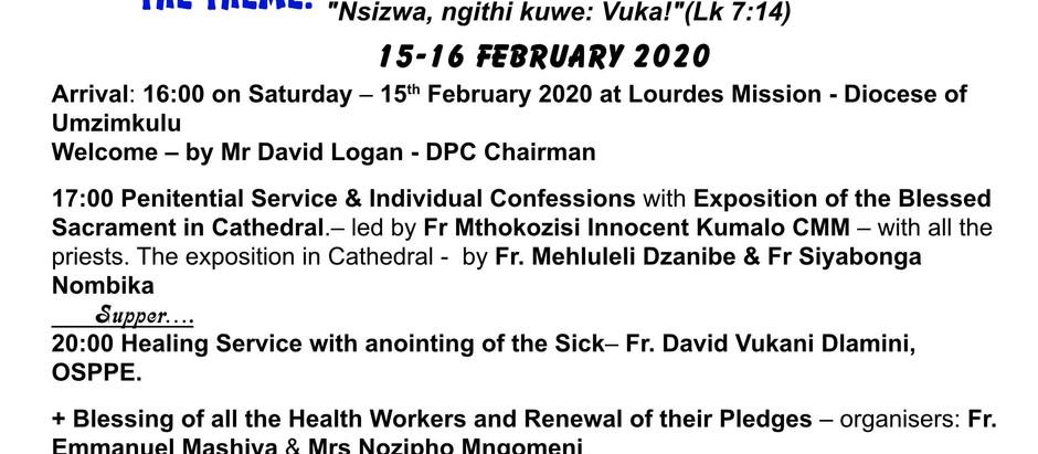 OUR LADY OF LOURDES PILGRIMAGE - 15-16-FEB.2020