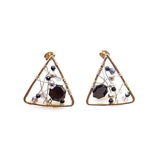 Triangle sparkle earring