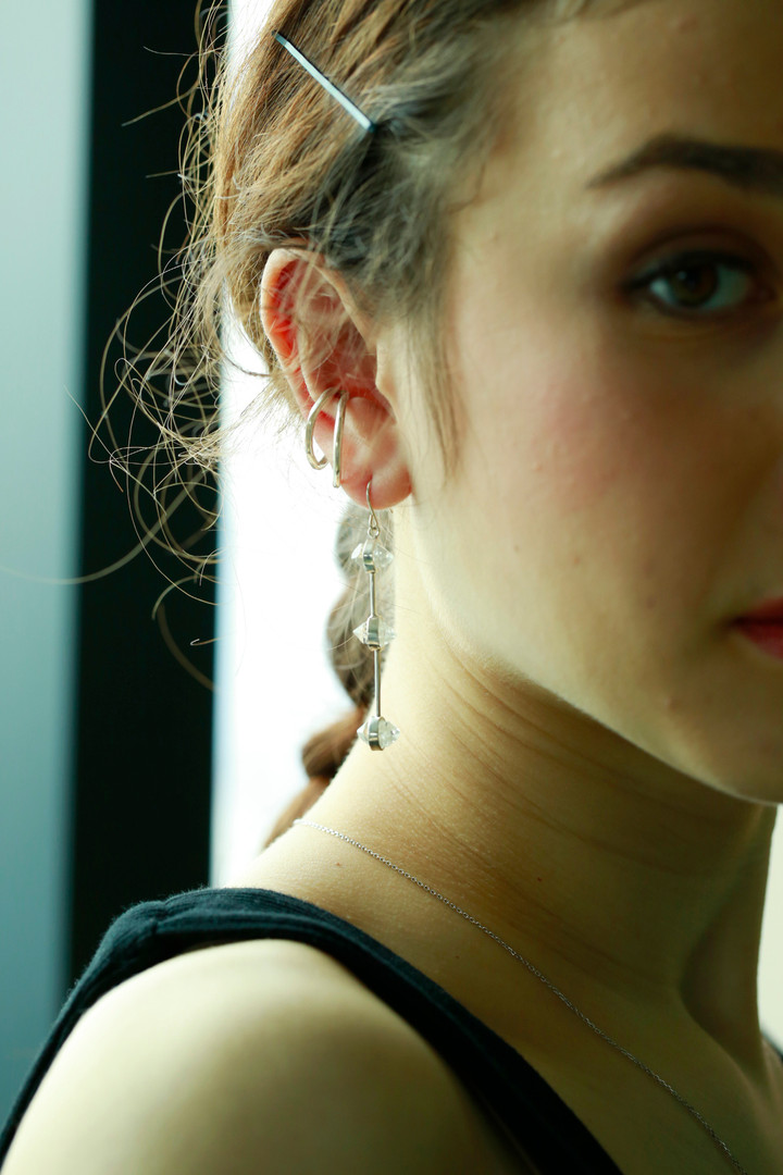 textured double ear cuff