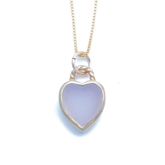 GEM HEART PENDANT NECKLACE- Fluorite