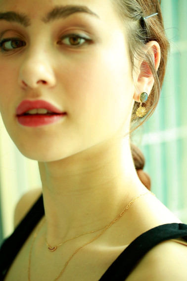 Daisy labradorite/citrine earring