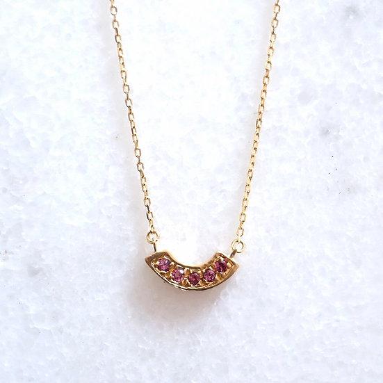 Curve k10 necklace -Rhodolite garnet