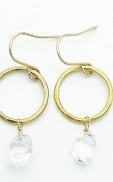 HERKIMER DIAMOND RING EARRING
