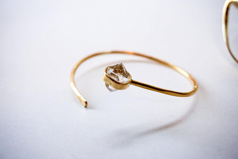 Diamond quartz bracelet