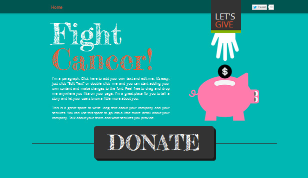 Community website templates – Fundraising