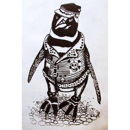 Pingüino rockero