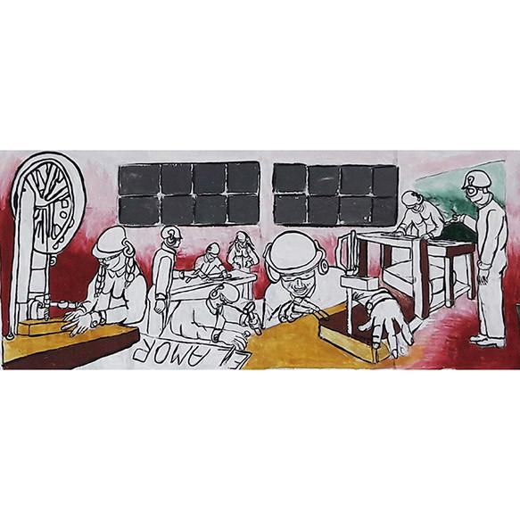 Boceto Mural de Carpintería