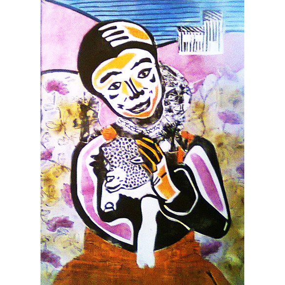 Mapuchita y cordero