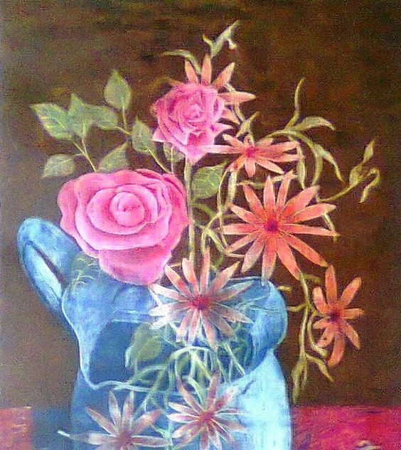 Jarrón con flores I