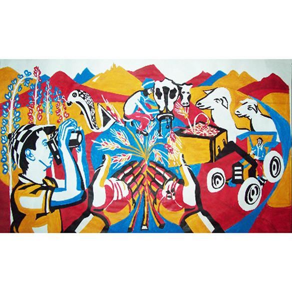 Mural Agricultura y Ganadería en Trevelin