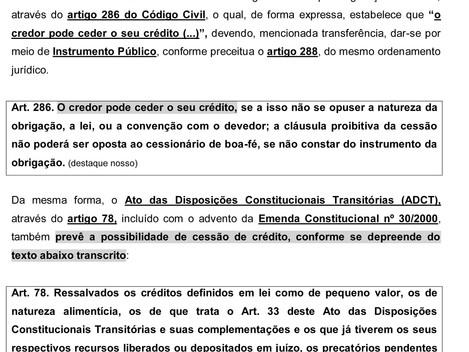 A cessão de Direitos Creditórios e a compensação de tributos