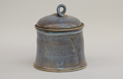 Blue Lidded Pot