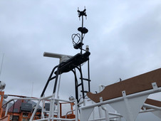 A new mast was also re-created matching where possible the original. Even though the two Direction finder loops and aerial are fake, it finishes the mast off and illustrates just how technology has changed.