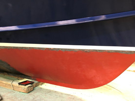 Then the antifouling starts to be applied.
