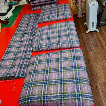 Moon fabric for the seat pad and blinds