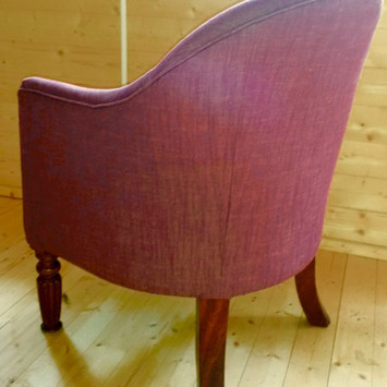 Upholstery of an armchair