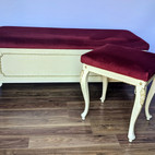 Upholstery of lovely stools with plush v