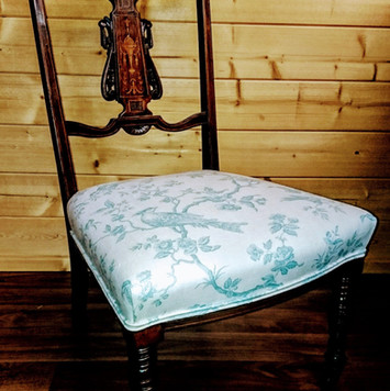 Upholstery of a vintage chair
