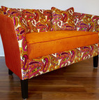 Upholstery of a sofa