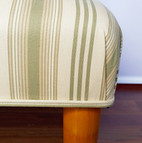 Upholstery of a footstool