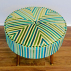 Uphostery of a multicolour stool
