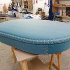 Upholstery of a secret keeper stool