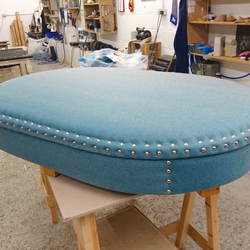 Upholstery of a secret keeper stool