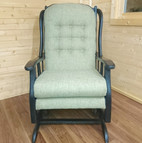 Upholstery of a rocking chair