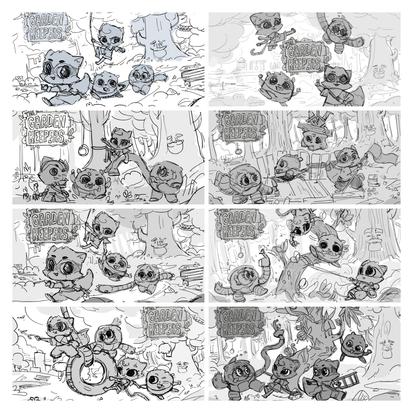 Splash Screen Sketches